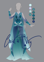 :: Adoptable Fluorite Outfit: AUCTION CLOSED :: by VioletKy