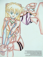 Neon Genesis Evangelion - Asuka Langley and EVA 02 by ToS2sEnd