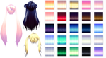 MMD Nxja Texture hair pack Download by 9844
