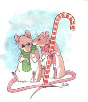 Christmas Card 2, Mice by luve