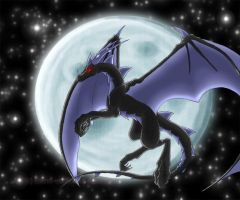 Time of Day Dragons: Midnight by storm-wolf44