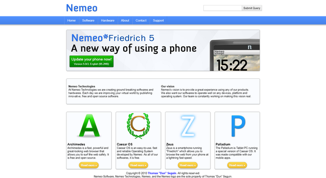 Nemeo Website 2 by Dun9000