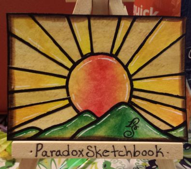 Stained Glass Sunset by ParadoxSketchbook