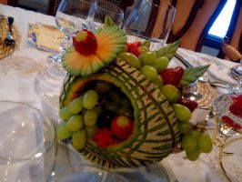Cantaloupe Fruit Basket 2 by Sliceofcake