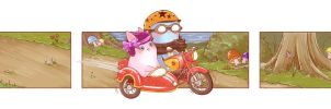 Motorcycle Ride by OctopusandBunny