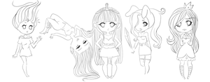 the many chibi styles of erraticink ! by ErraticInk