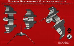 Cygnus Spaceworks Eta-class shuttle ortho [Update] by unusualsuspex