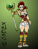Codex the Cleric in COLOR by gorillagraffix