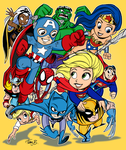 Comic Universe- PRINT by tombancroft