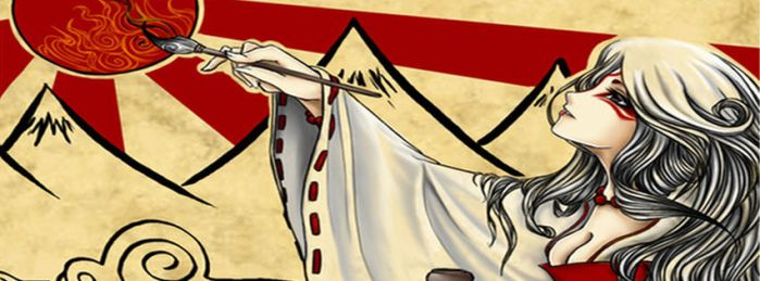 Okami: Amaterasu - Facebook Cover by RelientKaylin
