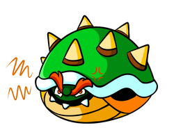 Commission - Bowser in Shell by JamesmanTheRegenold