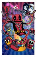DEADPOOL AP Red 11x17 by mikegoesgeek