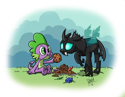 Spike and Thorax by IduChan