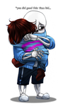 Sans and Frisk by skyrore1999