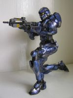 Blue SPARTAN-IV Warrior by BoggeyDan