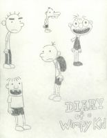 Diary Of A Wimpy Kid Sketches by LinzVsTheWorld