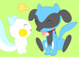 Pachi Pachi and Puppy by drill-tail