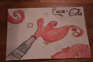 Coca-Cola Watercolour by thenextbest