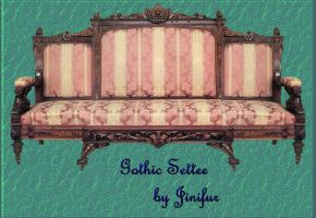 Gothic pink settee in png by jinifur