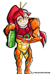 Yoko Littner as Samus by TheXHunter08