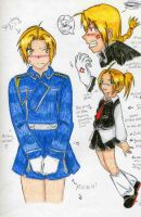FMA: Miniskirt Doodles by Wrath-Chu