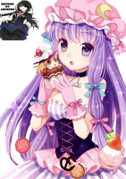 render Patchouli Knowledge touhou by ArihiroKushinada