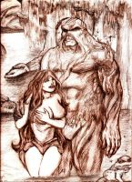 Swamp Thing Loves Abbey by MisterHydesSon