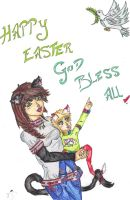 Happy Easter 1 by Meeowy