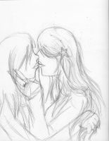 Sweet Kiss - Sketch by Roselyn-May