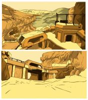 HALOMEN production backgrounds by danomano65
