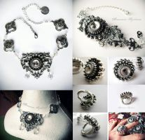 Gothic Jewelry silver color by Verope