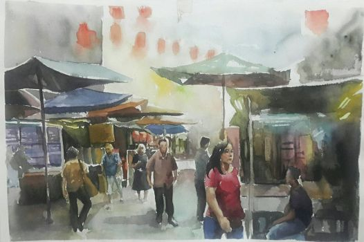 Watercolor painting  by HellaHappy3