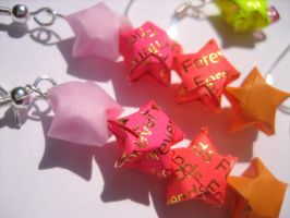 Paper star earrings 1 by ElOhEl21