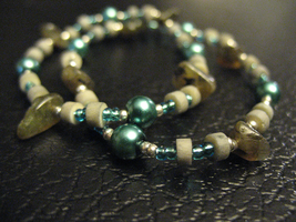 Blue and Brown Stone Bracelet by sampdesigns