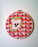 Scared Sammich Embroidery Hoop by msmegas