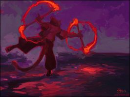 Fire Rings by kattything