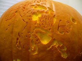 Doom II Pumpkin Detail by ceemdee