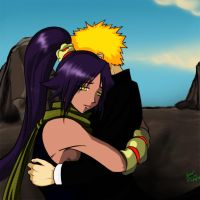 Ichigo hugs yoruichi by the-speed-demon