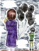 Black Ballons by MsFatigue