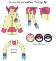 Sylveon Hoodie and Scarf Concept Art by Monostache