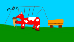 red cow by boybig5411