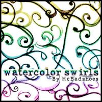 Watercolor Swirls by mcbadshoes
