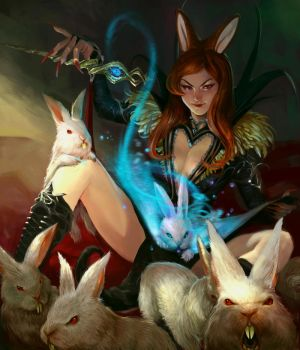 Relentless Bunnies by godfreyescota