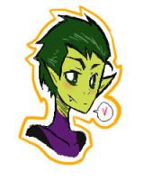 Beast Boy hearts u by Feiring