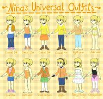 Nina's Universal Outfits 2017 by Ethemy