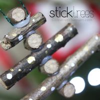 Stick Tree Christmas Decorations by bicyclegasoline