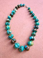 Turquoise Melon Necklace by Key-Kingdom