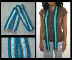 Finger Knitted Scarf by maridawood