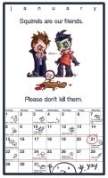ZADR calander by happychild