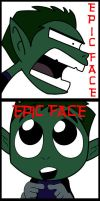 Beast Boy epic face by RantoJax